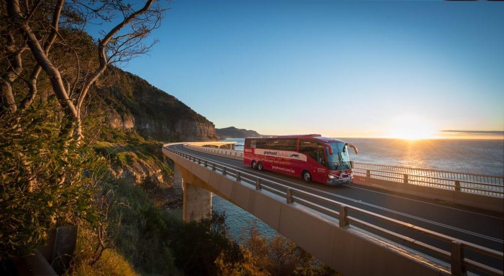 Greyhound bus on East Coast